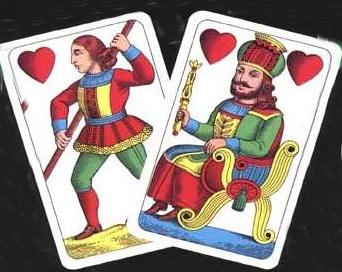 Srdce na kartách.