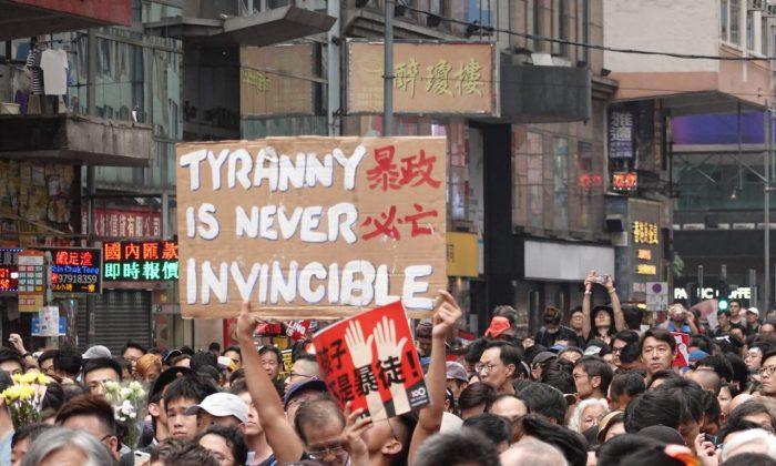 hong kong protesty cina