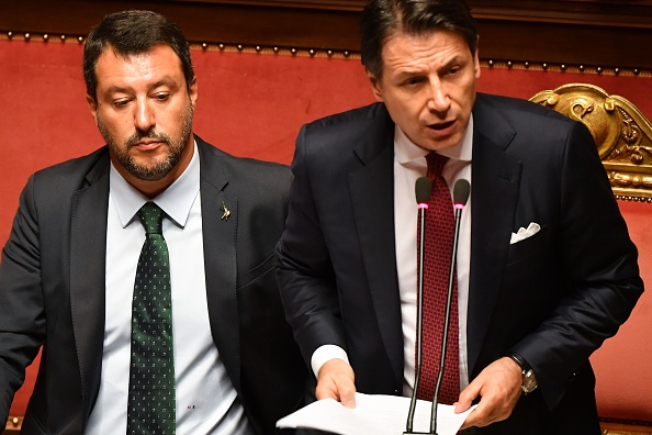 Italský premiér Giuseppe Conte a ministr vnitra Matteo Salvini. (ANDREAS SOLARO / AFP / Getty Images)