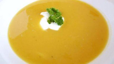 Recept: Krémová dýňová polévka