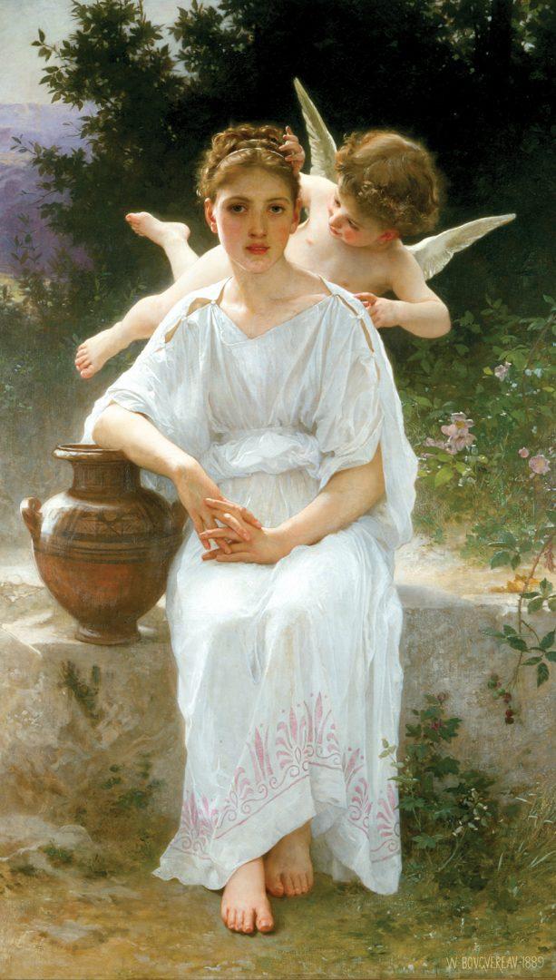 Obraz od francouzského malíře Williama Adolpha Bouguereaua nazvaný Nevinnost. (Volné dílo)