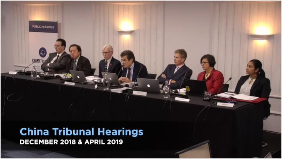 Mezinárodní tribunál v Londýně (China tribunal). (Screenshot YouTube)