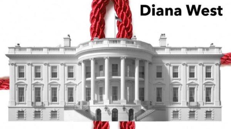 Přebal knihy Rudá nit od spisovatelky Diany Westové. (Diana West)