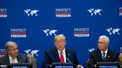 Trump vOSN vyzval národy kukončení náboženských represí