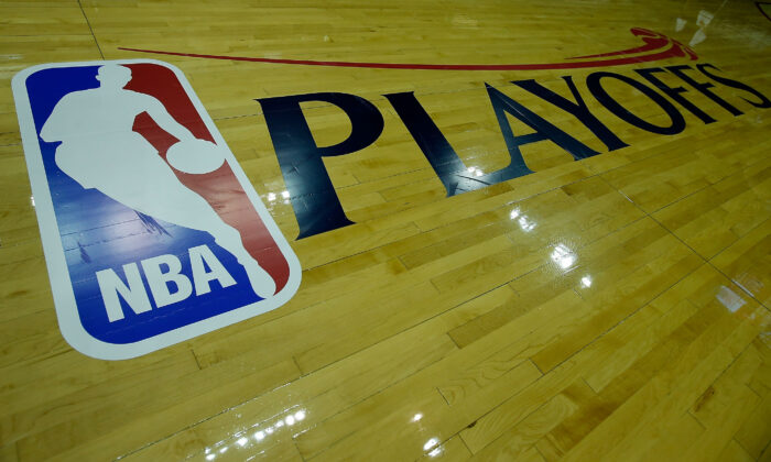 Logo NBA, Houston, Texas, USA 2013. (Scott Halleran/Getty Images)