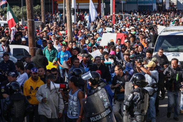 Tijuana Mexico uprchlici usa