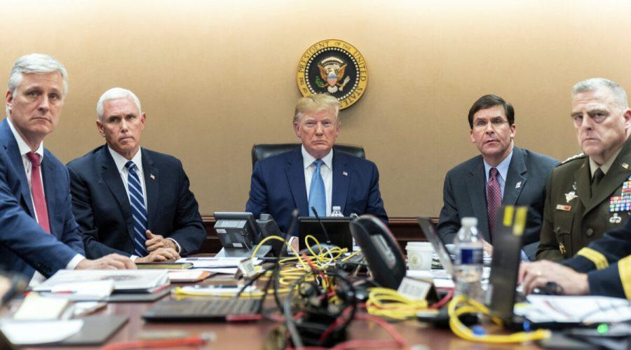 Pence, Trump, Esper