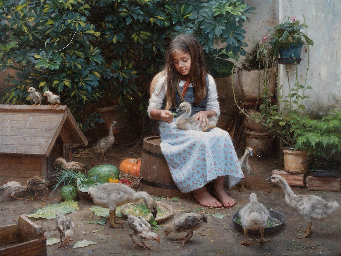 Obraz nazvaný Milenina farmaod brazilského umělce Clodoalda Martinse. (Se svolením Clodoalda Martinse)