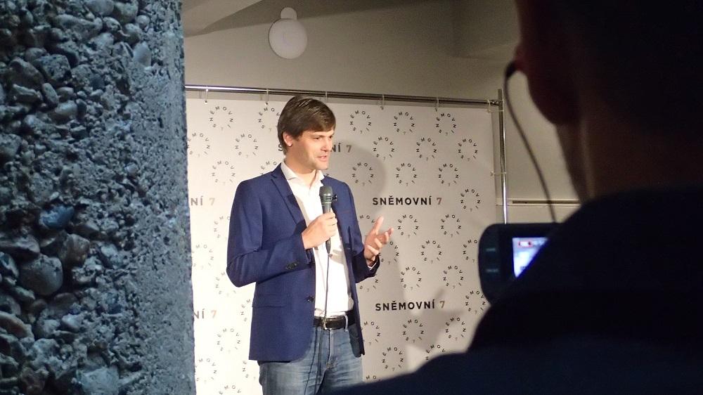 Marek Hilšer oznámil kandidaturu na prezidenta ve volbách pro rok 2023. (Milan Kajínek / Epoch Times)