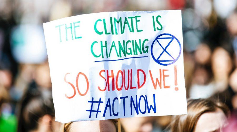 """Ilustrační foto z akce na podporu """"boje"""" proti klimatickým změnám. (Markus Spiske / temporausch.com)"""
