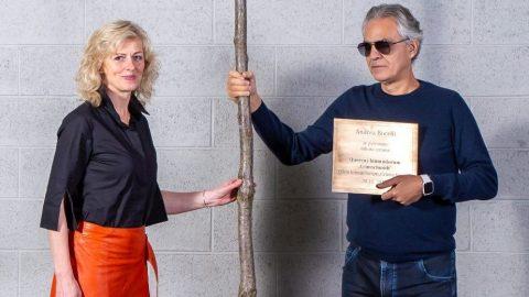 Hvězdný Andrea Bocelli se stal novým patronem vzácného stromu vparku zámku Liteň