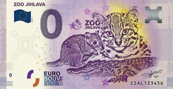 Sběratelská bankovka Zoo Jihlava.
