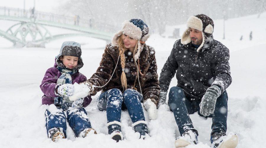 Jarní prázdniny, zima děti