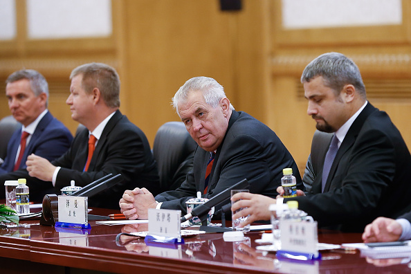 Czech President Milos Zeman (2nd-R) meets with Chinese leader Xi Jinping (not pictured) at The Great Hall of the People in Beijing, China, on Sept. 4, 2015. (Lintao Zhang/Getty Images)