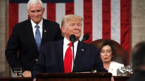 Trump ve Zprávě ostavu unie vyzdvihl rostoucí ekonomiku