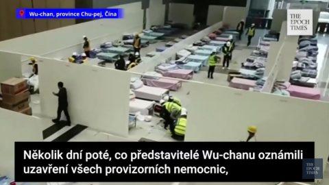 Čína: Wu-chan staví novou provizorní nemocnici, kterou ale nemá nikdo vidět (video)