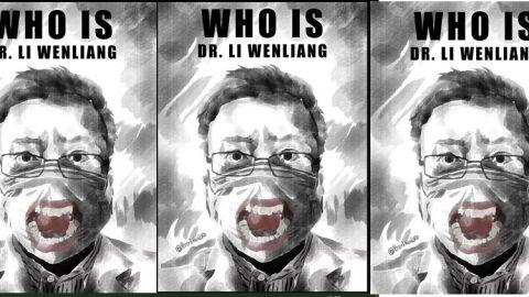 Praha: Čínský umělec vylepuje vulicích obrazy zatčeného čínského doktora