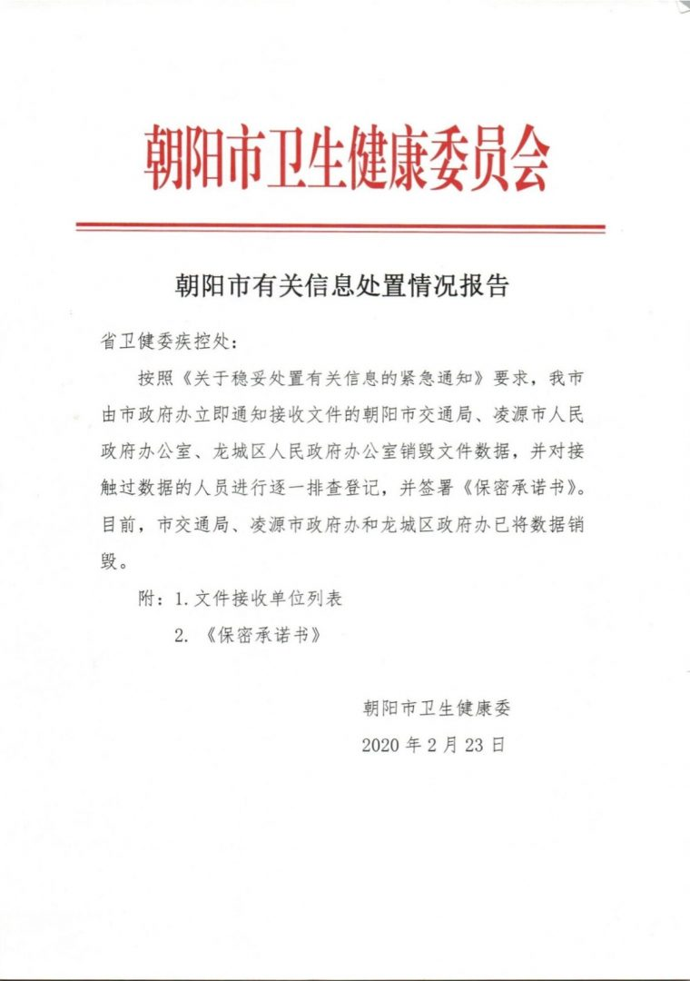 Official Document From Chaoyang City 1200x1705