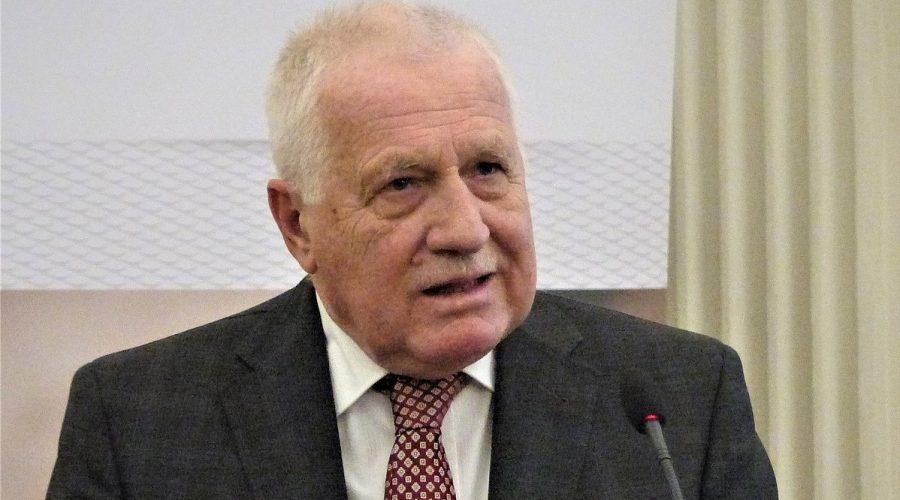 Václav Klaus. Hungarian Academy of Sciences, Budapešť, Maďarsko, 21. února 2018. (Elekes Andor / CC BY-SA 4.0)