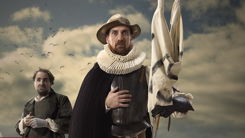 Zmoudření Dona Quijota, básnické drama Viktora Dyka v divadle na Vinohradech. (divadlonavinohradech.com)