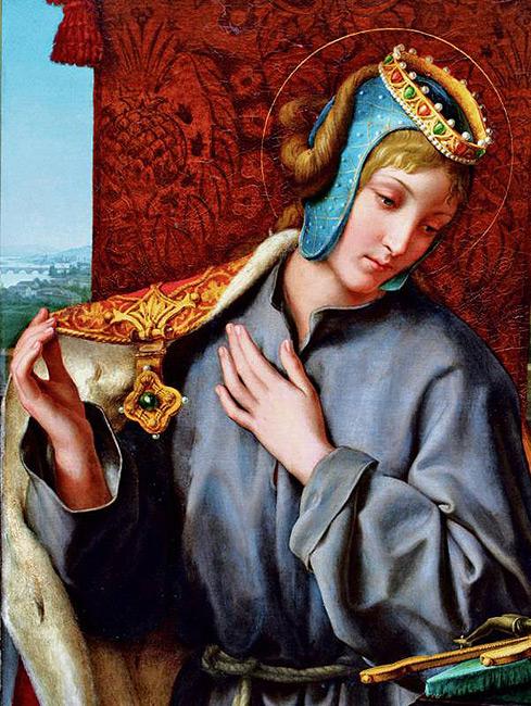 Princezna Anežka, dcera Přemysla Otakara I. Cudnost je jednou ze sedmi ctností. (Volné dílo)