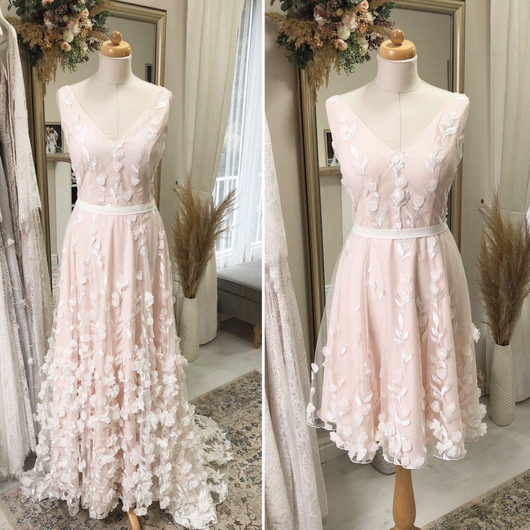 Svatební šaty Před A Po Upcyklaci (zdroj MiaBella)