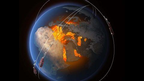 Magnetické pole Země oslabuje. Podle vědců to může ohrozit satelity