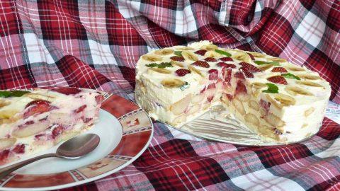 tvarohovy dort s jahodami