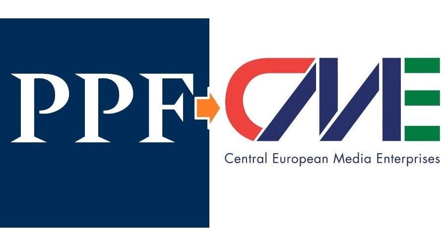 Logo společnosti CME. (cetv-net.com) Logo společnosti PPF. (CC BY-SA 4.0)