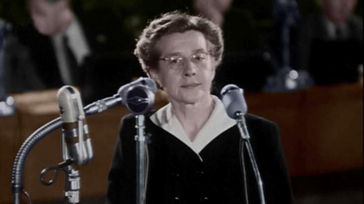 Milada Horáková během soudního procesu v roce 1950. (CC BY-SA 3.0)