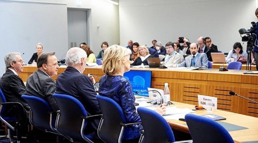 Evropský soud pro lidská práva, předseda Guido Raimondi v rámci každoroční tiskové konference 25. ledna 2018. (echr.coe.int)