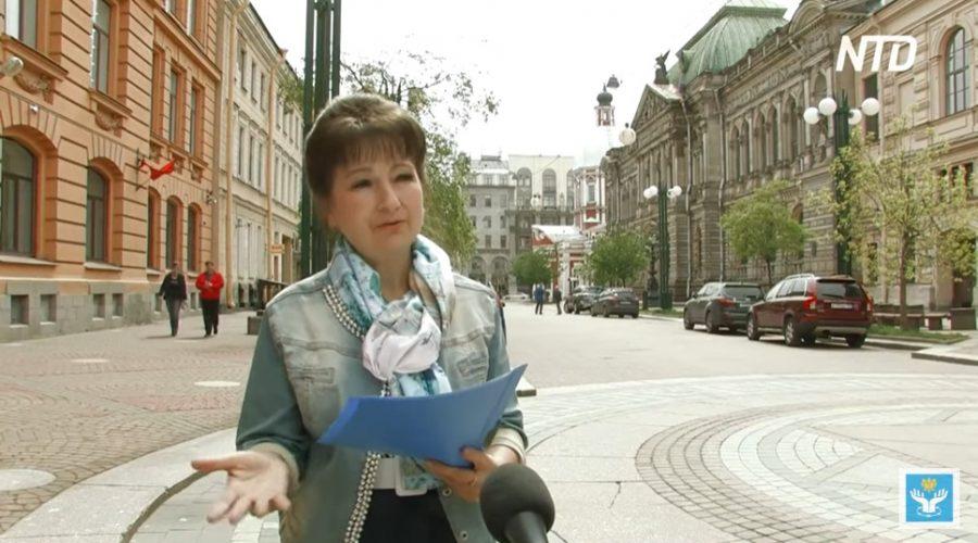 Příznivci Falun Gongu se obracejí na prezidenta Putina otevřeným dopisem, kvůli situaci v Rusku. (Screenshot z reportáže televize NTD)