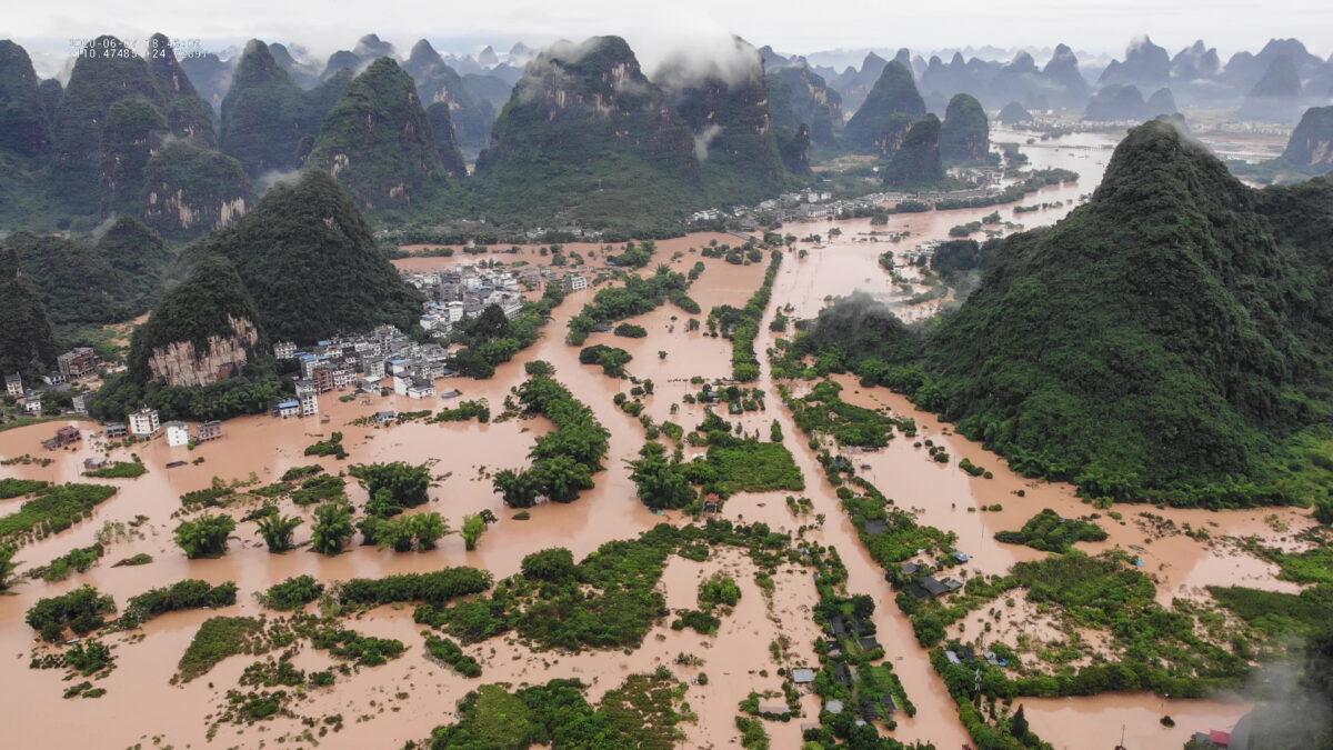 povodně čína