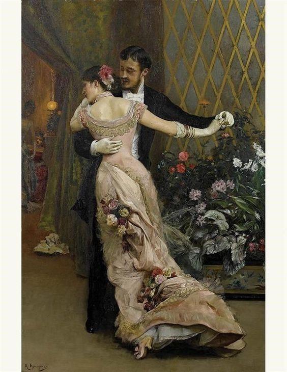 Muž a žena při tanci. (Volné dílo)