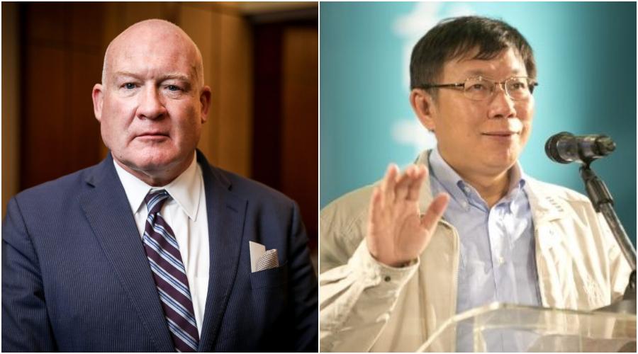 Ethan Gutmann, autor knihy Jatka. (Samira Bouaou / The Epoch Times) Doktor Ko Wen-je, starosta města Tchaj-pej. (Ashley Pon/Getty Images)