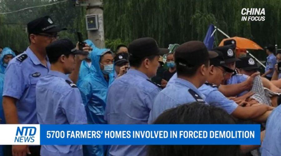5 700 Číňanů přišlo o své domovy v důsledku nucené demolice. (Screenshot China in Focus / NTD)