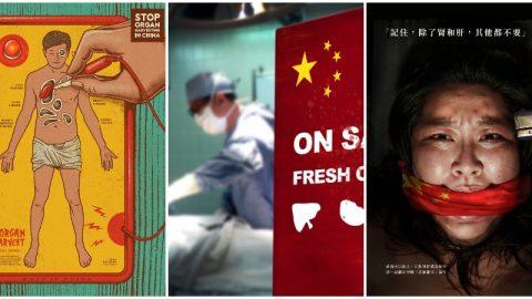 Finále soutěže onejlepší plakát upozorňující na zneužívání disidentů ktransplantacím