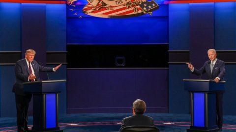 První předvolební debata Trumpa sBidenem