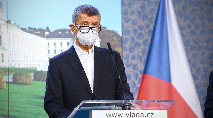 Premiér Andrej Babiš, 2. listopadu 2020. (Vlada.cz)