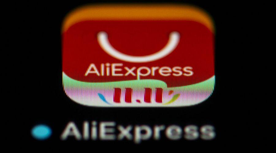 Logo aplikace pro smartphone, čínské online maloobchodní služby Aliexpress. Je to jedna z čínských aplikací zakázaných Indií 24. listopadu 2020. (Lionel Bonaventure / AFP přes Getty Images)