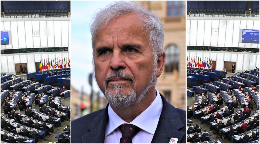 Ivan David, současný europoslanec a bývalý ministr zdravotnictví vlády ČR. (David Sedlecký / CC BY-SA 4.0) Evropský parlament. (Diliff / CC BY-SA 3.0)