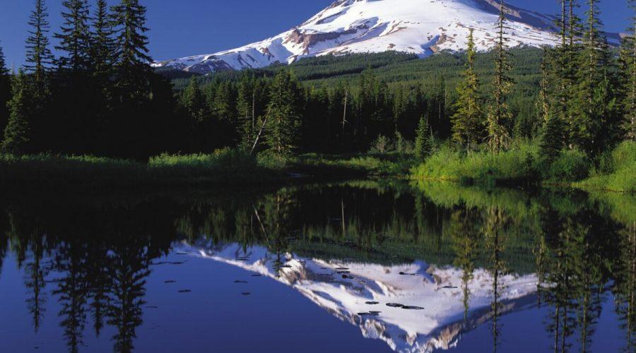 Mount Hood Reflected In Mirror Lake Oregon 1200x953