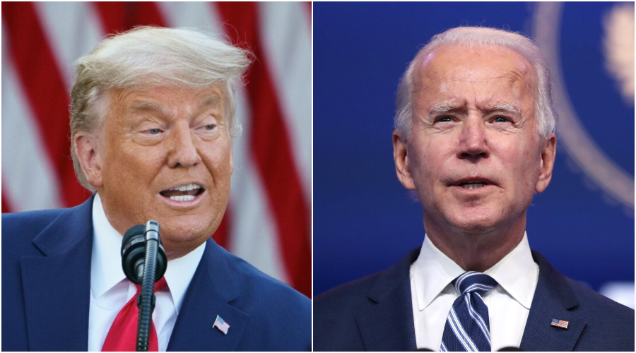 (Zleva) Prezidentský kandidát Joe Biden. (Joe Raedle/Getty Images) Současný prezident USA Donald Trump. (Mandel Ngan/AFP via Getty Images)