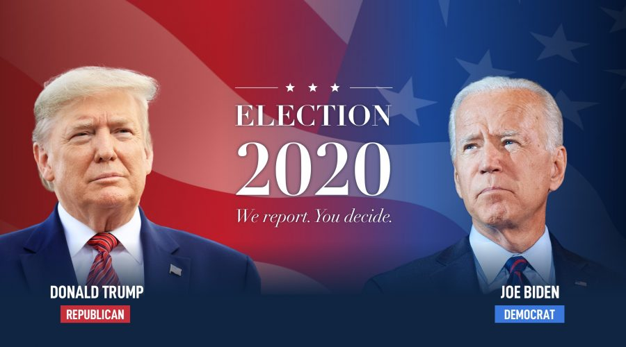 Plakát sekce newyorské redakce deníku The Epoch Times sledující vývoj prezidentských voleb v USA. (The Epoch Times)