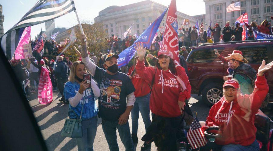 Shromáždění Trumpových příznivců ve Washingtonu. (Mandel Ngan/AFP via Getty Images)