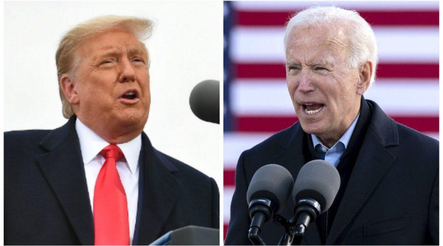 (Zleva) Současný prezident USA Donald Trump. Prezidentský kandidát Joe Biden. (Mandel Ngan and Jim Watson/AFP via Getty Images)