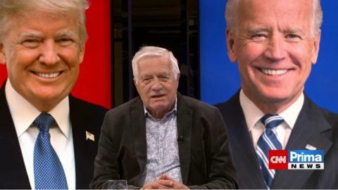 Klaus: Biden není mým favoritem, Trump je hradba před narůstajícím pokrokářstvím, levičáctvím asocialismem vUSA ive světě