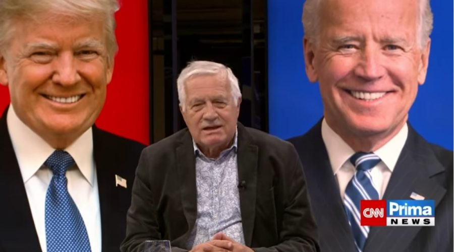 Bývalý český prezident Václav Klaus v rozhovoru pro CNN Prima News. (Screenshot / YouTube)
