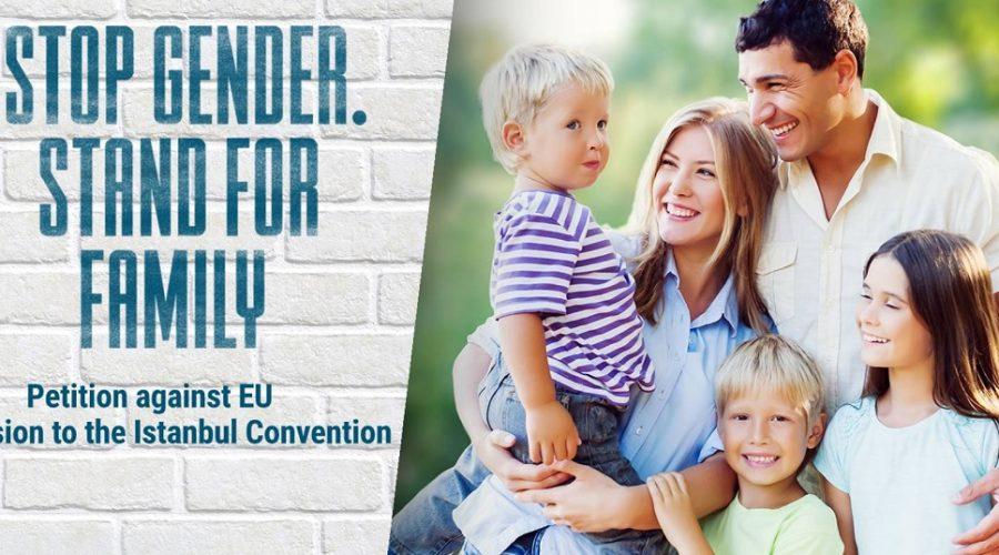 Screenshot ze stránek zveřejňujících petiční akci namířenou proti šíření genderové ideologie v zemích Evropské unie. (Screenshot / stopgenderconvention.org)