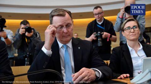 Durynský předseda vlády Ramelow kritizován, hrál hry během konference okoronavirové krizi